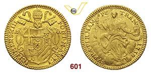 CLEMENTE XIII  (1758-1769)  Zecchino 1758, ...