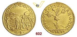 PIO VI  (1775-1799)  2 Doppie romane 1787 A. ...
