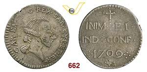 CARLO EMANUELE IV  (1796-1800)  Reale 1799 ...