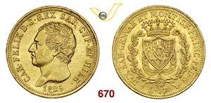 CARLO FELICE  (1821-1831)  80 Lire 1825 ...