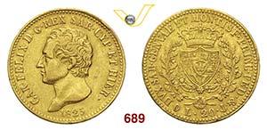 CARLO FELICE  (1821-1831)  20 Lire 1825 ...