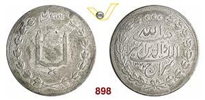 AFGHANISTAN      5 Rupie AH 1322 (1904)   ...