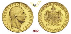 ALBANIA  ZOG I  (1925-1939)  100 Franga ...