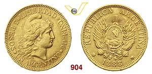 ARGENTINA      1 Argentino 1888.   Fb. 14   ...