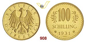 AUSTRIA      100 Scellini 1931.   Fb. 520   ...