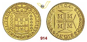 BRASILE  JOAO V  (1706-1750)  20000 Reis ...