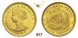 CILE      50 Pesos 1926.   Fb. 55   Au   g ...