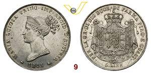 PARMA  MARIA LUIGIA  (1814-1847)  5 Lire ...