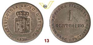 PARMA  MARIA LUIGIA  (1814-1847)  Centesimo ...