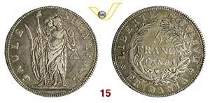TORINO  REPUBBLICA SUBALPINA  (1800-1802)  5 ...