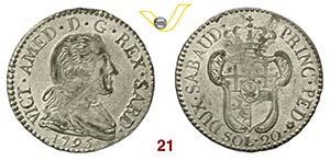 SAVOIA  VITTORIO AMEDEO III  (1773-1796)  20 ...