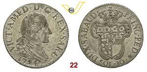 SAVOIA  VITTORIO AMEDEO III  (1773-1796)  10 ...
