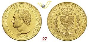 SAVOIA  CARLO FELICE  (1821-1831)  80 Lire ...