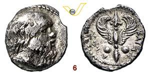 SICILIA - KATANE    (405-403 a.C.)  Litra.  ...