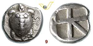 ATTICA - EGINA    (480-457 a.C.)  Statere.  ...
