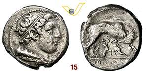 ROMANO-CAMPANE  (269-266 a.C.)  Didramma.   ...