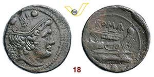 ANONIME  (217-215 a.C.)  Sestante.   Cr. ...