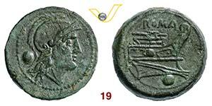 ANONIME  (215-212 a.C.)  Oncia.   Cr. 41/10  ...