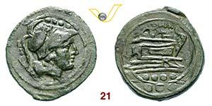 ANONIME  (dopo il 211 a.C.)  Triente, ...