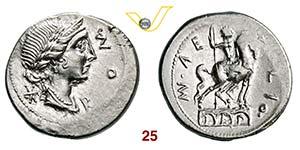 AEMILIA - Man. Aemilius Lepidus  (114-113 ...