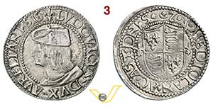 ASTI - LUIGI XII  (1465-1498)  Testone s.d.  ...