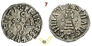 BENEVENTO - SICONE, Principe  (817-832)  ...