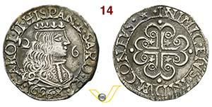 CAGLIARI - CARLO II DI SPAGNA  (1665-1700)  ...