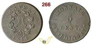 BELGIO - NAPOLEONE I  (1804-1814)  5 ...