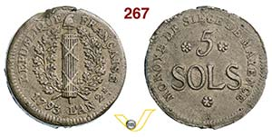 GERMANIA -     5 Soldi 1793 A. 2.   Gadoury ...
