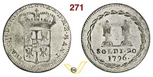ITALIA - FRANCESCO II  (1792-1800)  20 Soldi ...