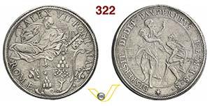 ALESSANDRO VII  (1655-1667)  Piastra s.d., ...
