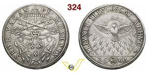 SEDE VACANTE  (1669-1670)  Piastra 1669, ...