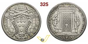 CLEMENTE X  (1670-1676)  Piastra 1675.  D/ ...