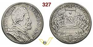INNOCENZO XII  (1691-1700)  Piastra 1696 A. ...