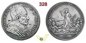 INNOCENZO XII  (1691-1700)  Piastra A. VIII, ...