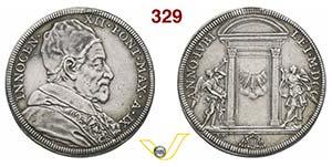 INNOCENZO XII  (1691-1700)  Piastra A. IX, ...
