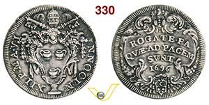 INNOCENZO XII  (1691-1700)  Testone 1696 A. ...