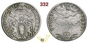 SEDE VACANTE  (1691)  Testone 1691, Roma.  ...