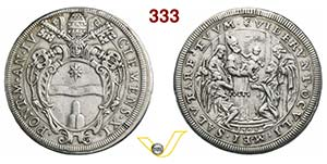 CLEMENTE XI  (1700-1721)  Piastra 1704 A. ...