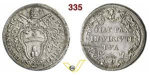 CLEMENTE XI  (1700-1721)  Mezza Piastra A. ...