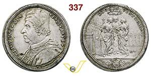 CLEMENTE XI  (1700-1721)  Testone A. VI, ...