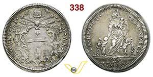 CLEMENTE XI  (1700-1721)  Testone A. VIII, ...