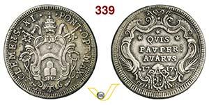 CLEMENTE XI  (1700-1721)  Testone 1717, ...