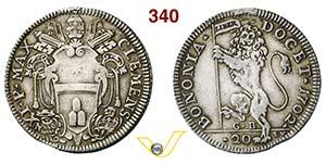 CLEMENTE XI  (1700-1721)  Lira 1702.  D/ ...