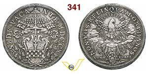 SEDE VACANTE  (1700)  Piastra 1700, Roma.  ...