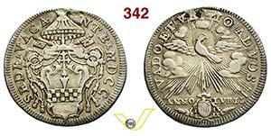 SEDE VACANTE  (1700)  Testone 1700, Roma.  ...