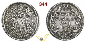 CLEMENTE XII  (1730-1740)  Mezza Piastra A. ...