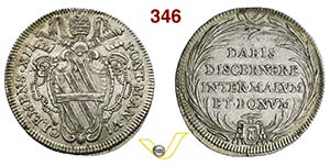 CLEMENTE XII  (1730-1740)  Testone A. VI, ...
