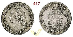 CARLO EMANUELE III  (1730-1773)  Quarto di ...