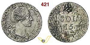 VITTORIO AMEDEO III  (1773-1796)  15 Soldi ...
